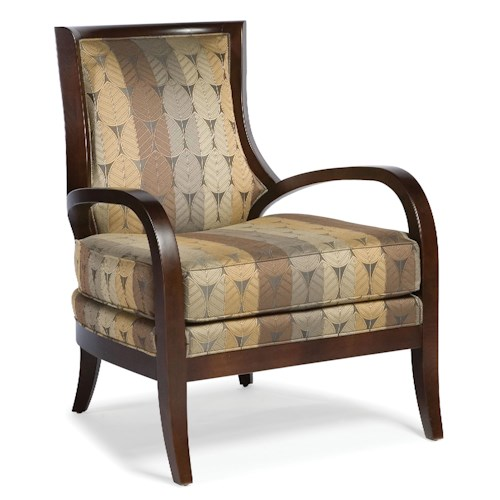 Fairfield Chairs Contemporary Stationary Exposed Wood Chair with Curved Arms