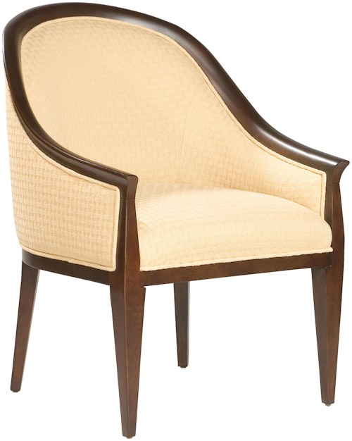 Fairfield Chairs Sophisticated Lounge Chair with Exposed Wood Accents
