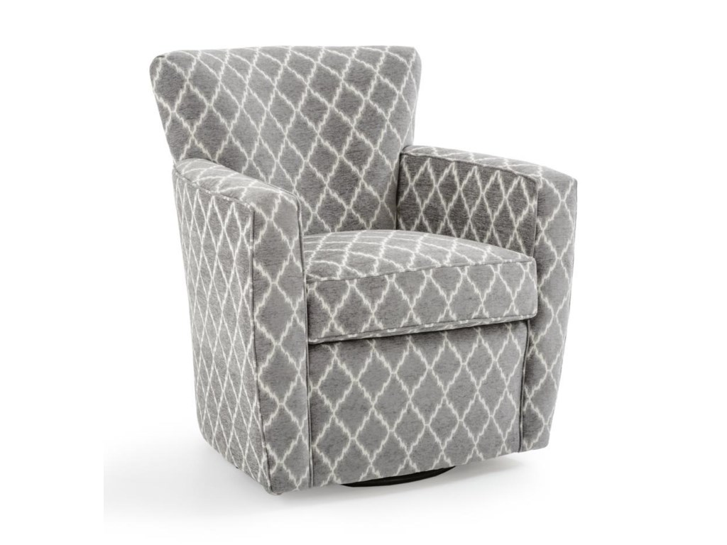 Chairs Contemporary Swivel Accent Chair by Fairfield at Baer\'s Furniture