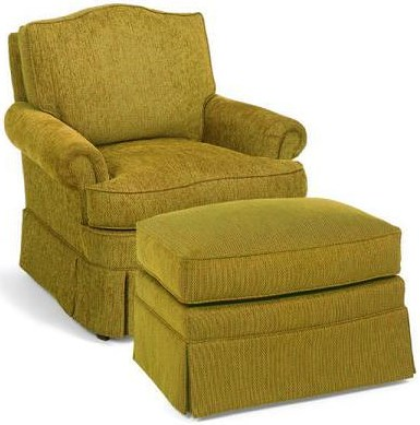 Fairfield 1454 Upholstered Lounge Chair and Ottoman