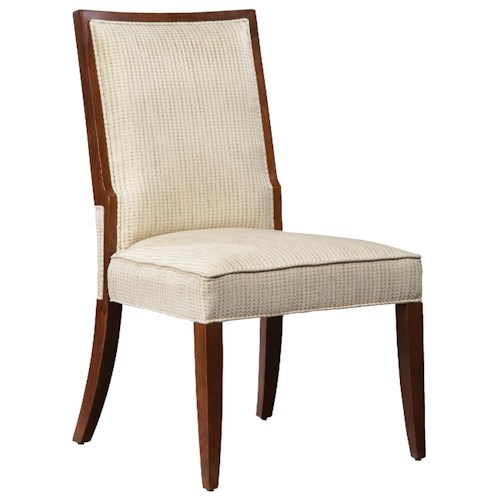Fairfield Fairfield Dining Chairs Contemporary Dining Room Side Chair with Exposed Wood Accents