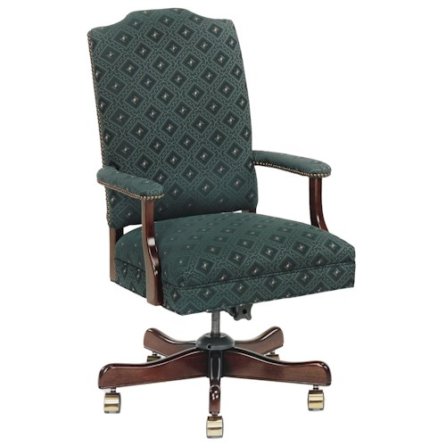 Fairfield Office Furnishings Camel Back Office Chair on Casters