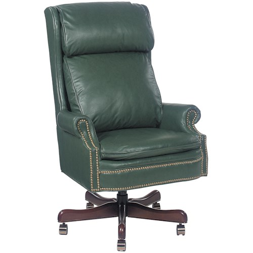 Fairfield Office Furnishings Traditional Executive Swivel Chair with Nailhead Trim