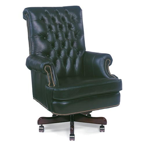 Fairfield Office Furnishings Executive Swivel Chair with Button-Tufting and Rolled Arms