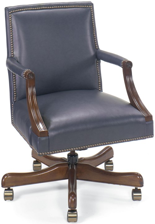 Fairfield Office Furnishings Leather Executive Swivel Chair with Nailhead Trim