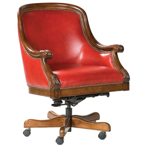 Fairfield Office Furnishings Exposed Wood Office Chair with Nail Head Trim