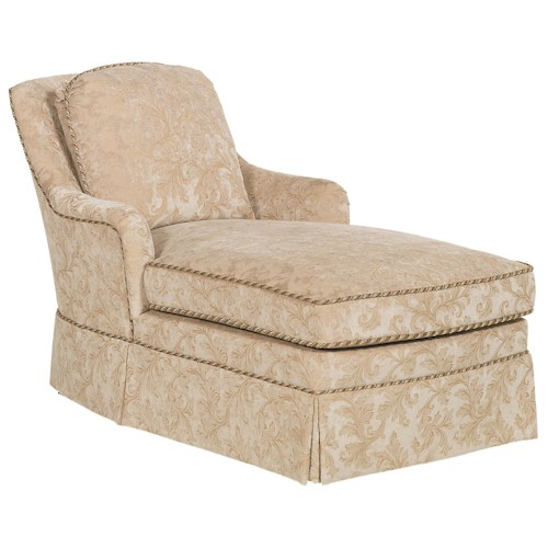 Fairfield Sofa Accents Traditional Trimmed Chaise