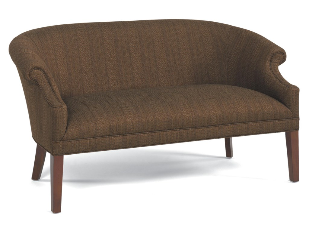 Fairfield Sofa Accents Stationary With Tall Wood Legs