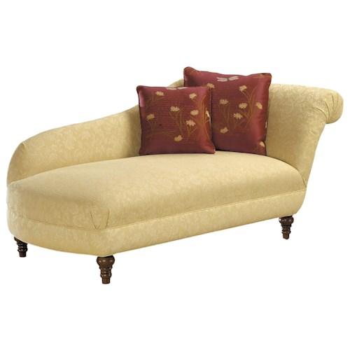 Fairfield sofa accents traditional styled lounge chaise for Accent chaise lounge