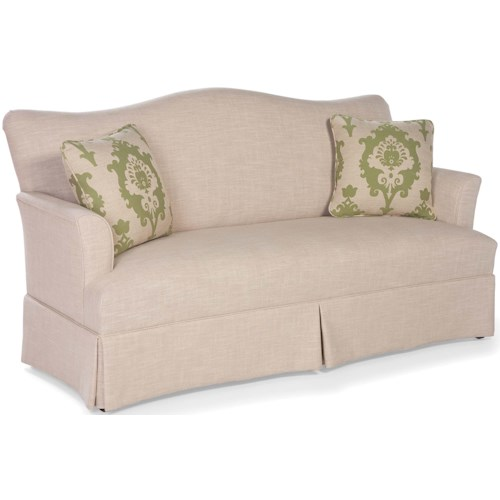 Fairfield Sofa Accents Skirted Camel Back