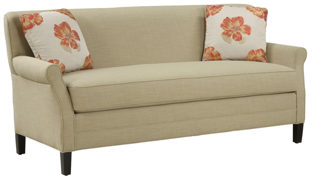 Fairfield Sofa Accents Simple And Elegant Un Cluttered Sofa With  ~ Single Cushion Sofa Couch
