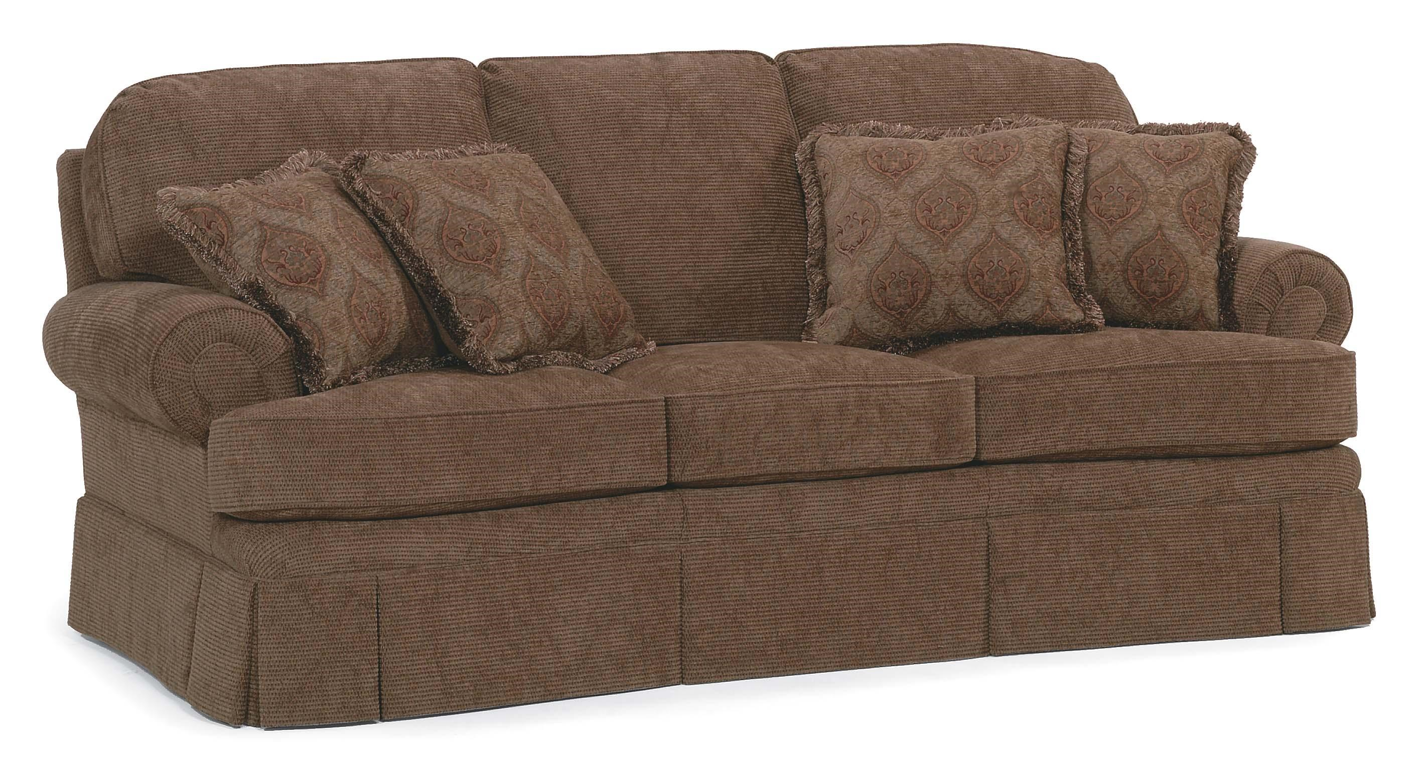 Merveilleux Fairfield Sofa Accents Stationary Sofa With Rolled Arms And Skirt