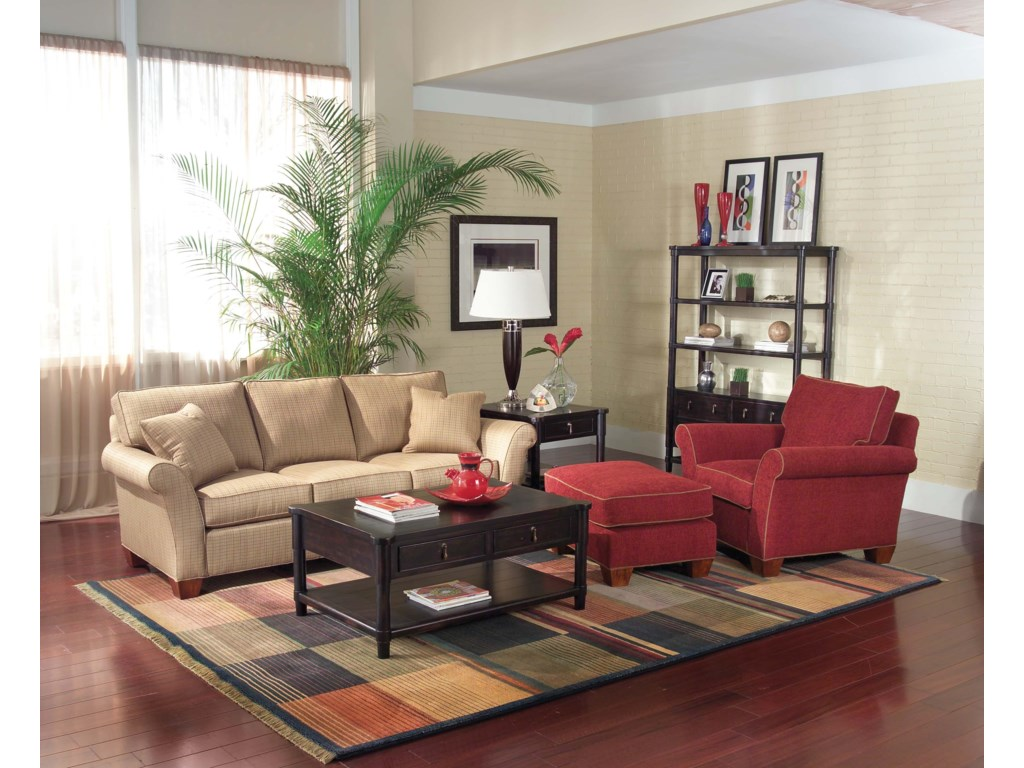Shown with Coordinating Accent Chair and Ottoman