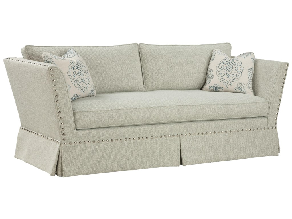Fairfield Sofa Accents Unique Accent In Flared Arm Style With Traditional Nail Head Trim