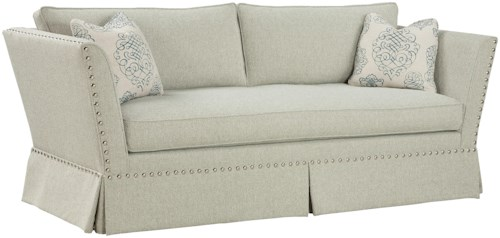 Fairfield Sofa Accents Unique Accent Sofa in Flared Arm Style with Traditional Nail Head Trim
