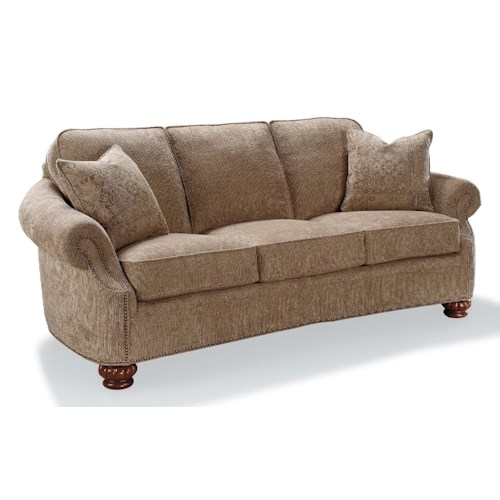 Fairfield Sofa Accents Rolled Arm Accent Sofa with Nailhead Trim