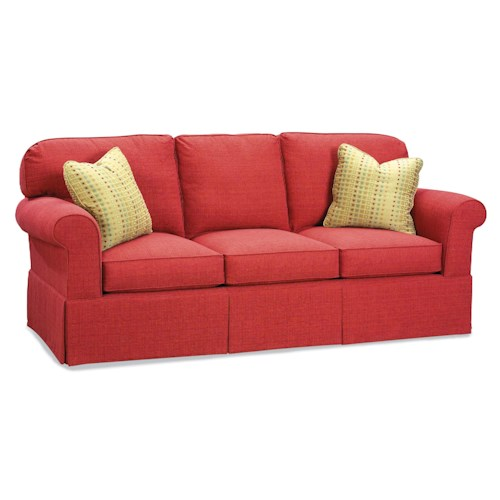 Fairfield Sofa Accents Stationary Sofa with Rounded Back Cushions