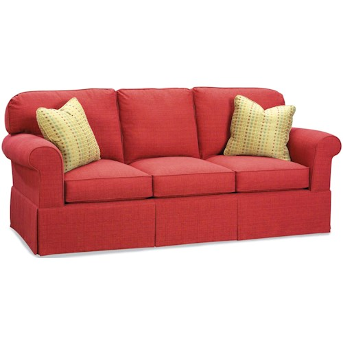 Fairfield Sofa Accents Stationary With Rounded Back Cushions