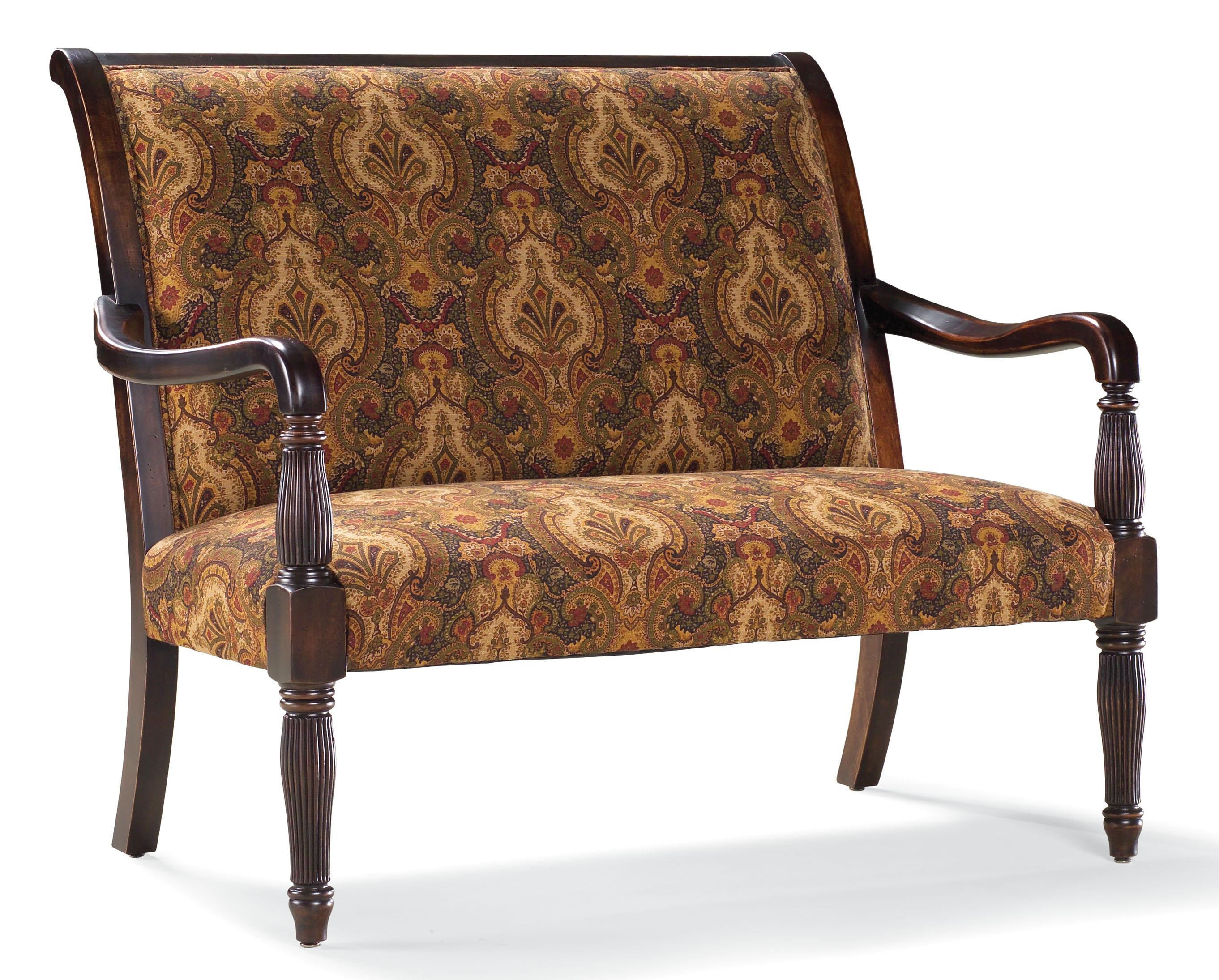 Fairfield Sofa Accents Traditional Stationary Settee With Wood Frame