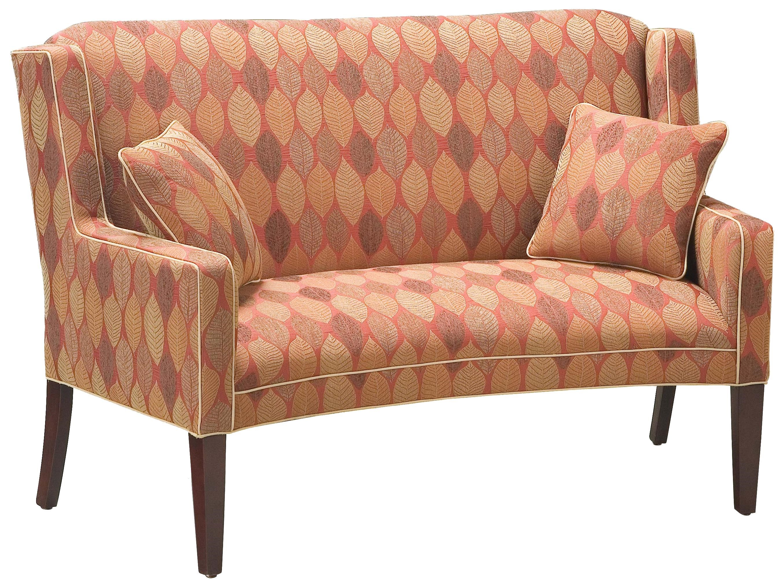 Fairfield Sofa Accents Curved Accent Settee   Belfort Furniture   Settees