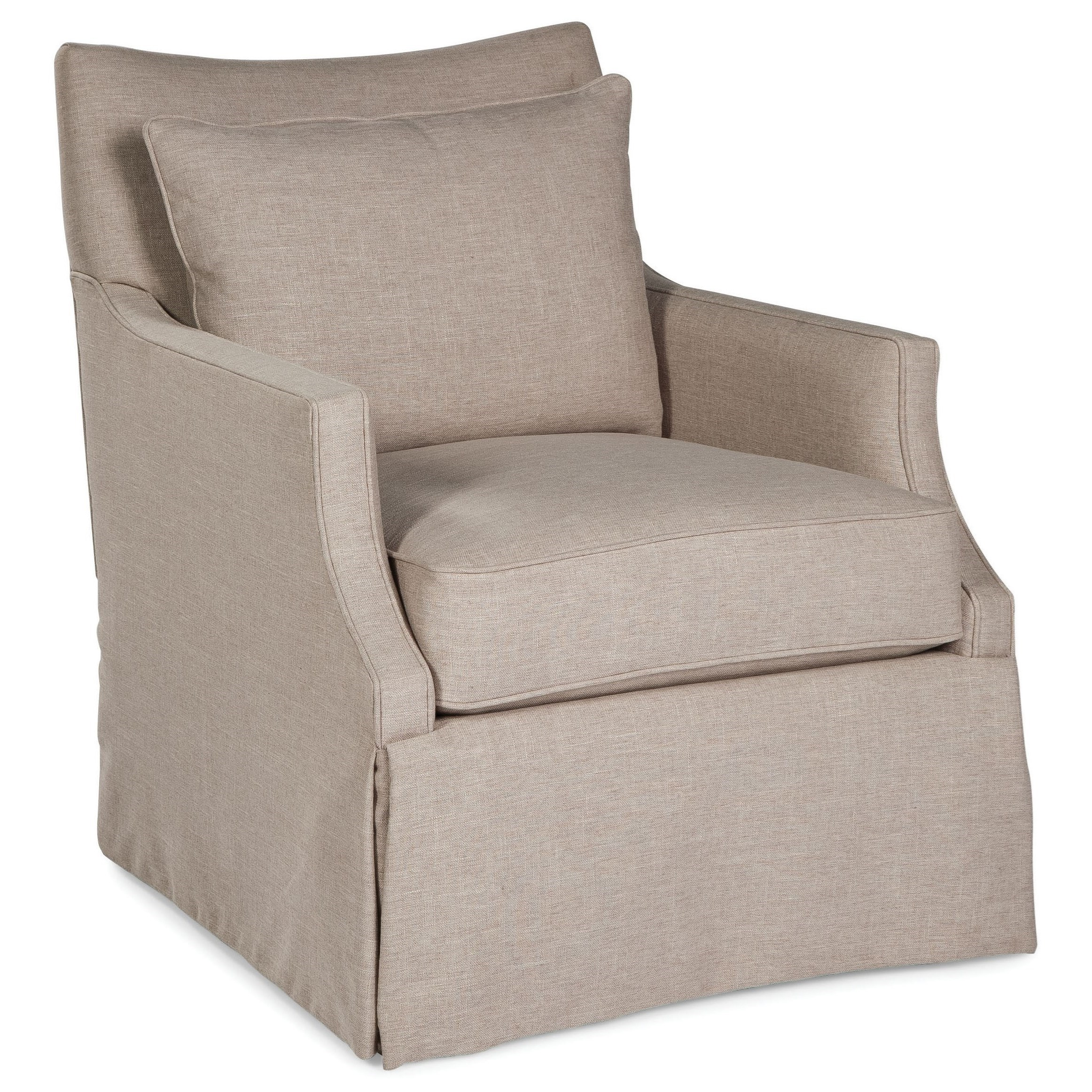 Fairfield Swivel Accent Chairs Swivel Chair With Loose Pillow Cushions