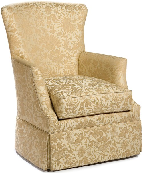 Fairfield Swivel Accent Chairs Chair With Track Arms And Skirt