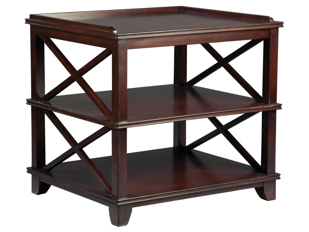 Fairfield TablesCasual End Table with Open Storage