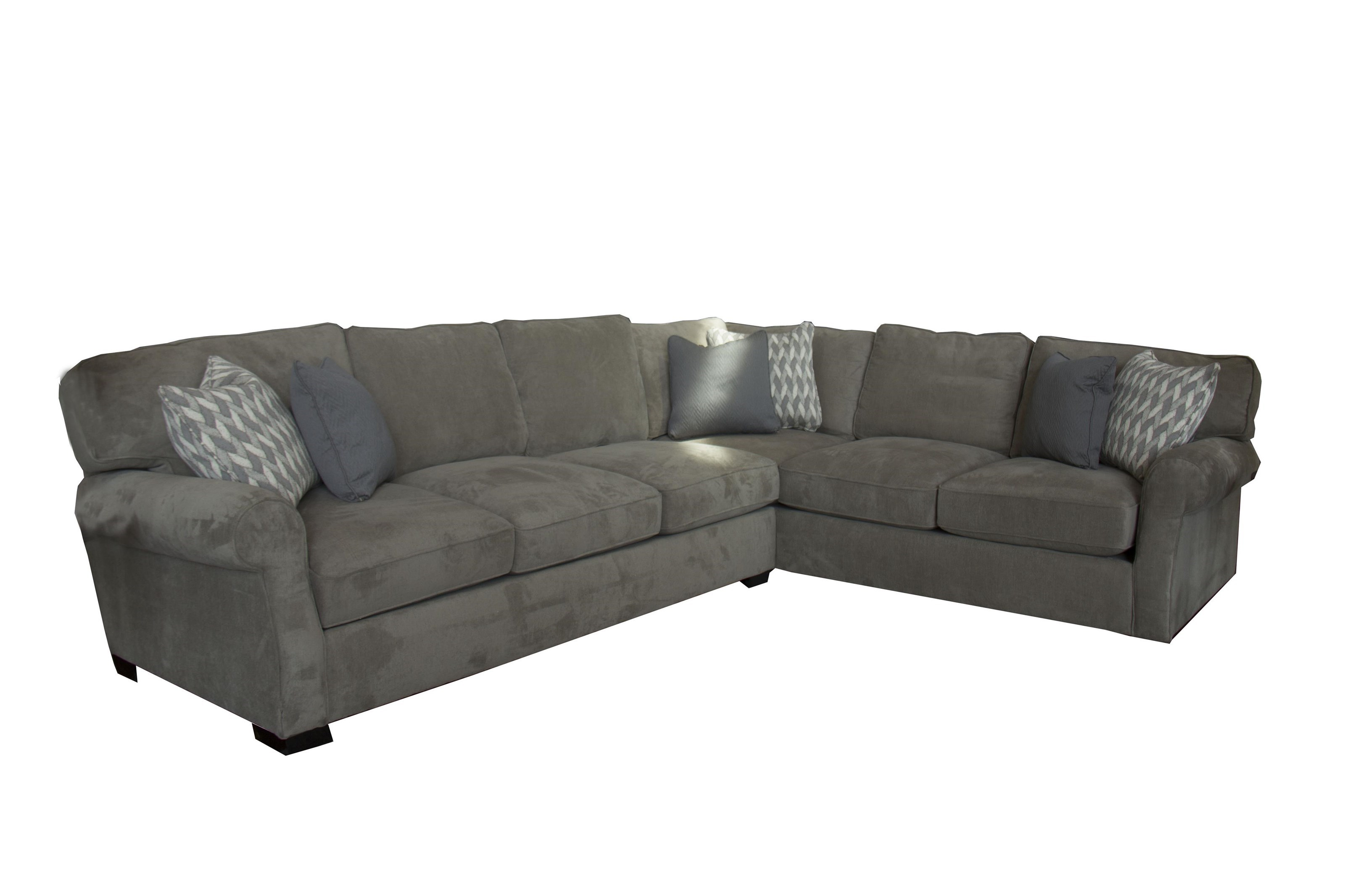 Fairmont Seating Cachet Two Piece Sectional   Great American Home Store    Sectional Modular Components