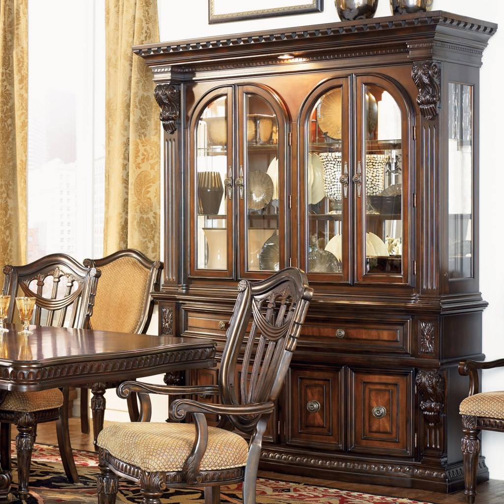 fairmont designs grand estates china cabinet hutch - royal