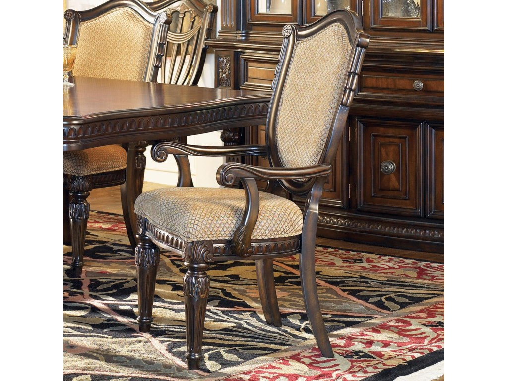 Shown With Dining Table And Upholstered Side Chairs