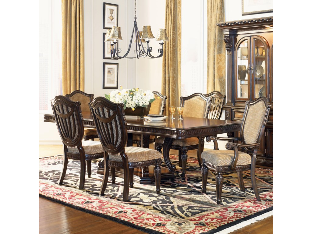 Home Dining Room Furniture Arm Chairs Grand Rapids Chair Shown With Table And Upholstered Side
