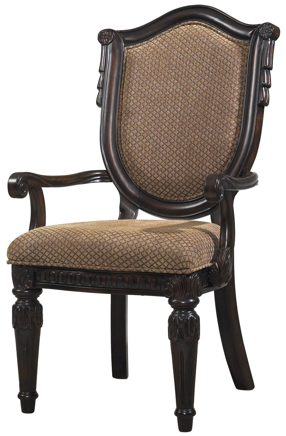 Fairmont Designs Grand Estates Upholstered Arm Chair   Royal Furniture    Dining Arm Chairs