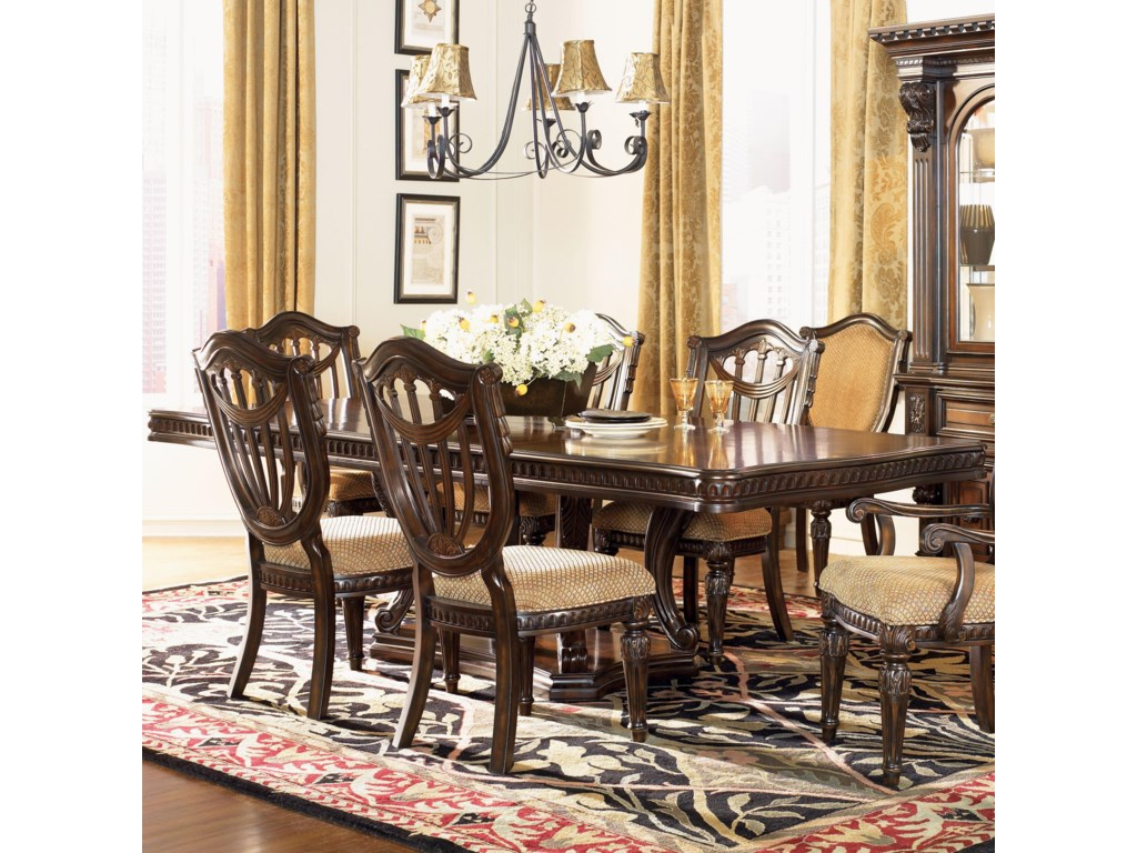 Grand Estates Double Pedestal Rectangular Dining Table by Fairmont Designs  at Royal Furniture