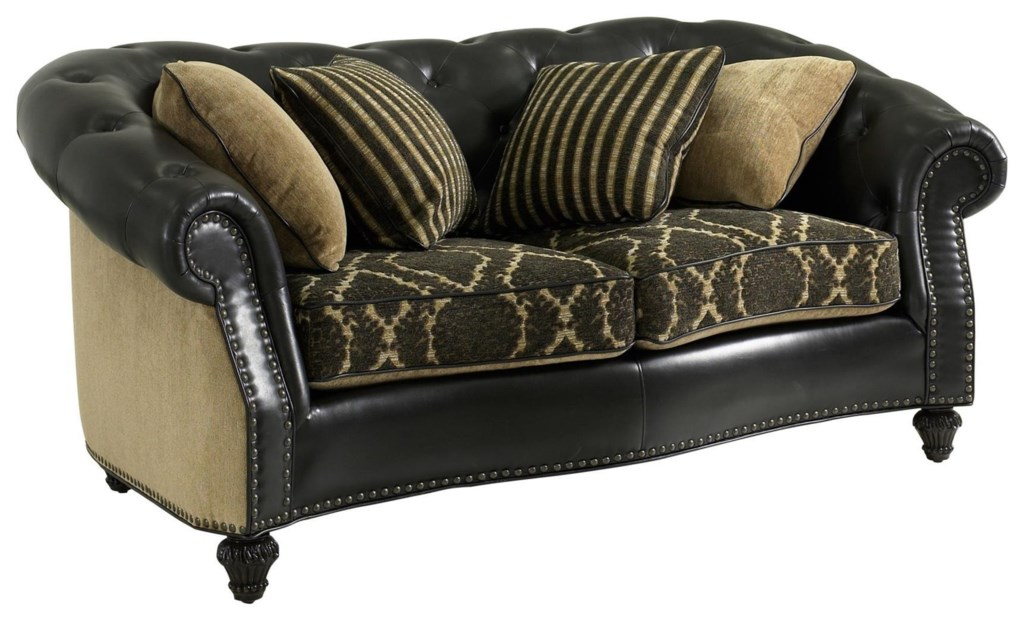 Fairmont Designs Grand Estates Traditional Loveseat With Nailheads