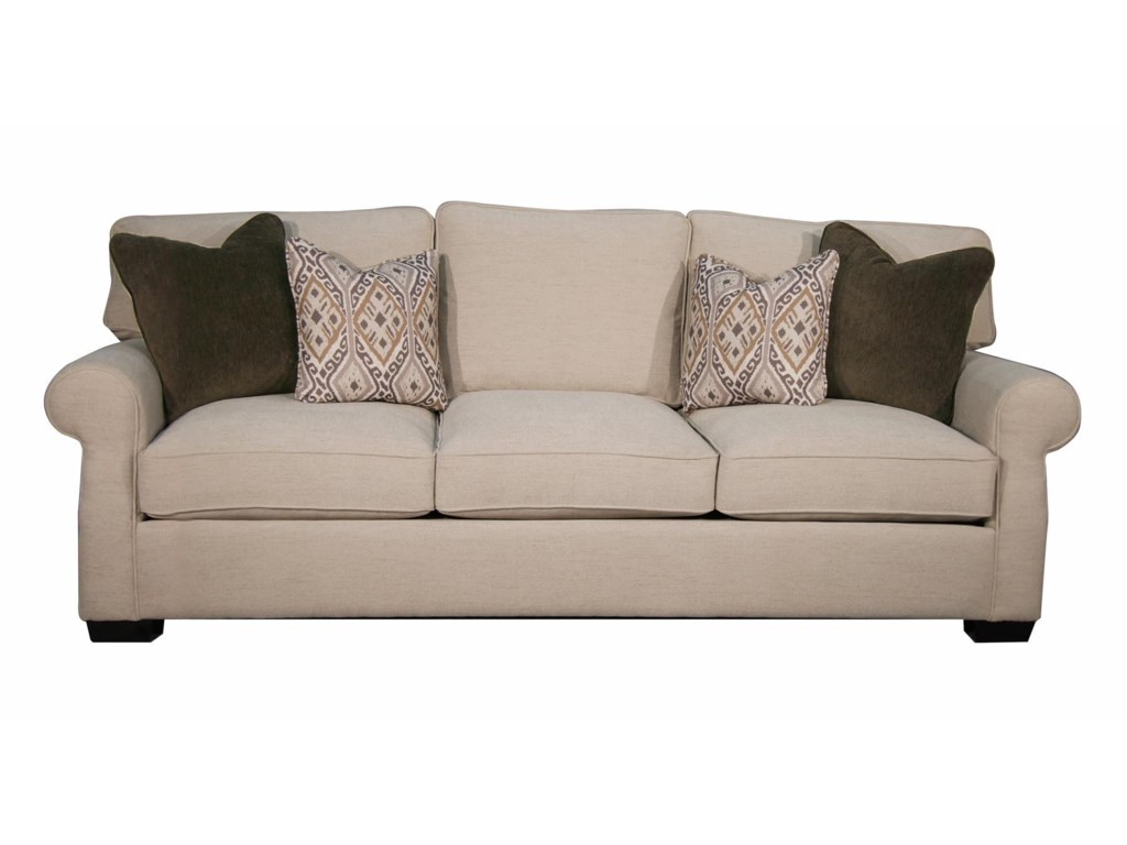 Rio Grande Stationary Sofa W Rolled Arms By Fairmont Designs At Royal Furniture