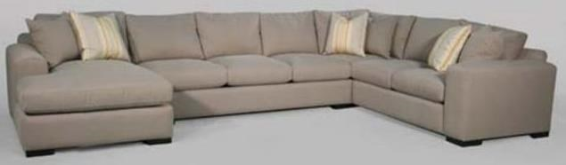 Vibe Contemporary Sectional Sofa With Track Arms And Chaise By Fairmont  Designs