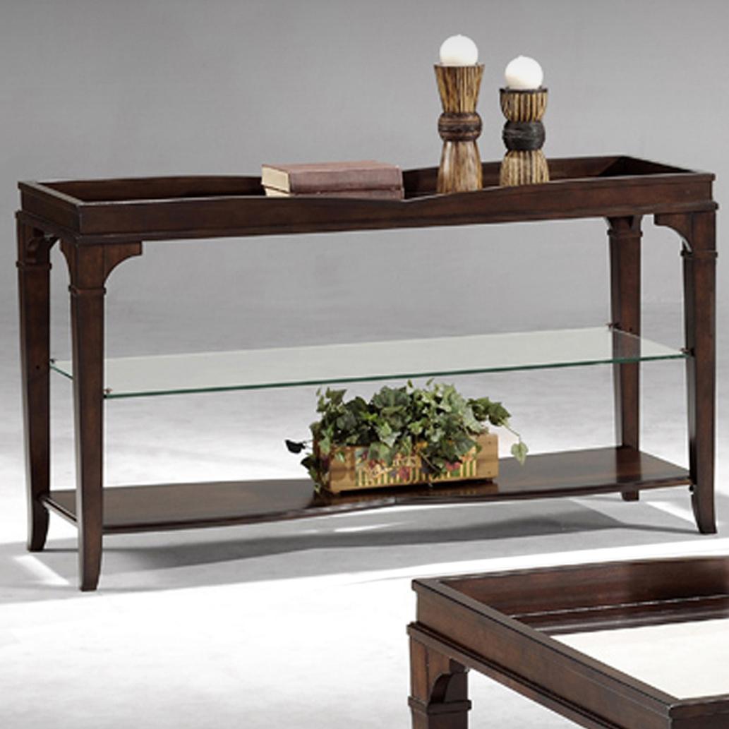 Monarch Console Table W/ Middle Glass Shelf By Fairmont Designs