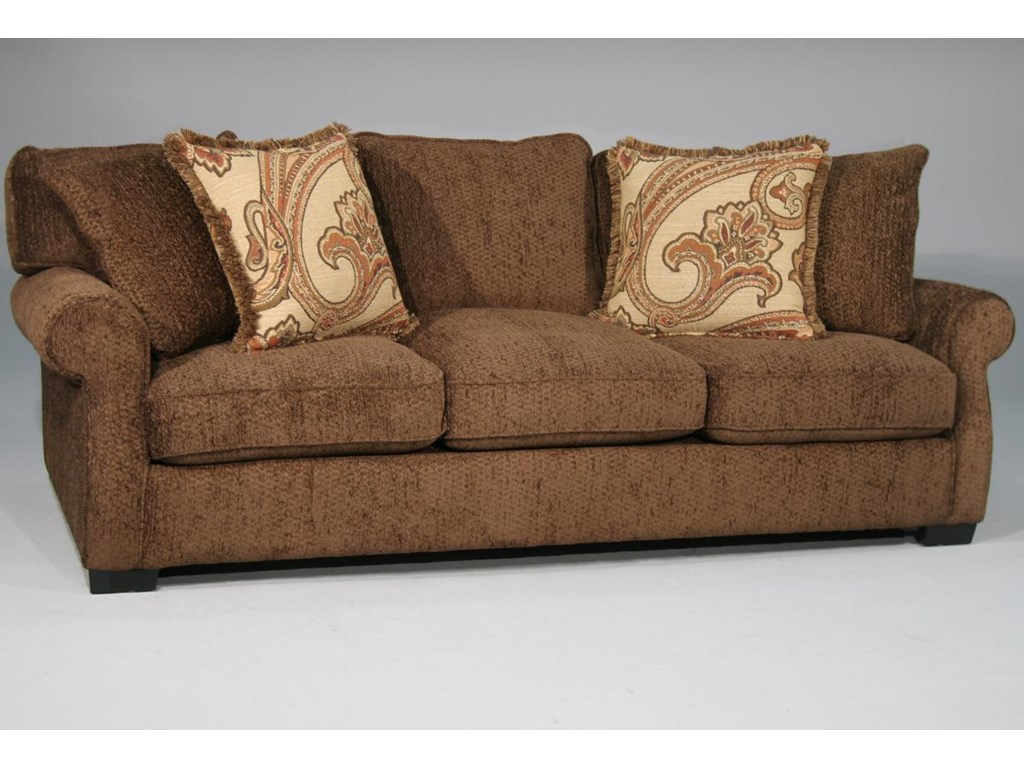 Rio Grande Stationary Sofa W Rolled Arms By Fairmont Designs