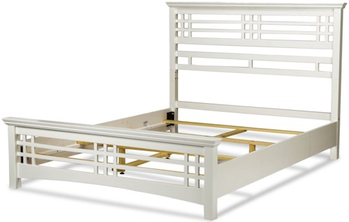 Fashion Bed Group Avery Avery Full Bed with Wood Frame and Mission Style Design with Cottage White Finish