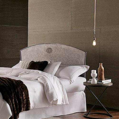 Fashion Bed Group Barrington Barrington King Metal Headboard with Industrial Circular Design