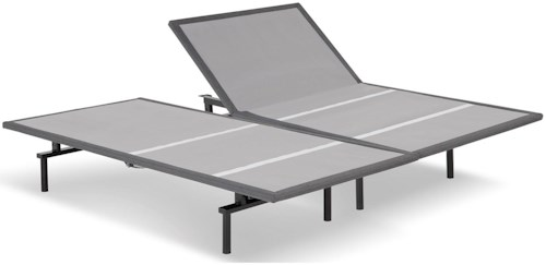 Fashion Bed Group Bas-X 2.0 Split King Bas-X 2.0 Low-Profile Adjustable Bed Base with Head Articulation and MicroHook Technology