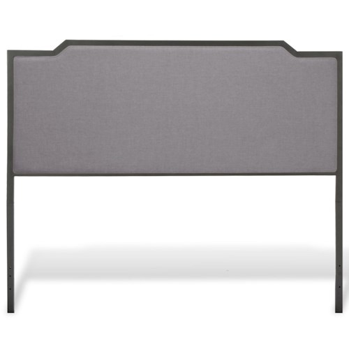 Fashion Bed Group Bayview Bayview King Headboard with Gray Dove Upholstery