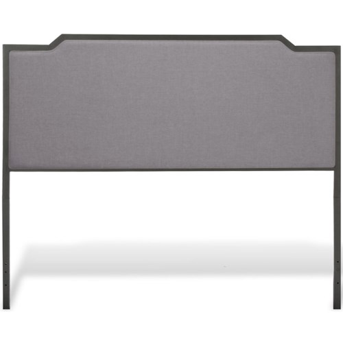 Fashion Bed Group Bayview Bayview California King Headboard with Gray Dove Upholstery