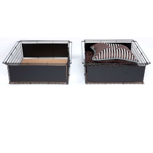 Fashion Bed Group Bedding Support Atlas 2-Pack Metal Slide-Out Drawer for Bed Base Support System