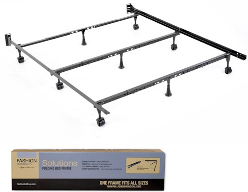 Fashion Bed Group Bedding Support Solutions Twin - Cal King Compact Universal Folding Bed Frame