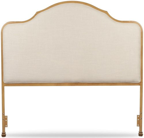 Fashion Bed Group Calvados Calvados King Headboard with Sand Colored Upholstery