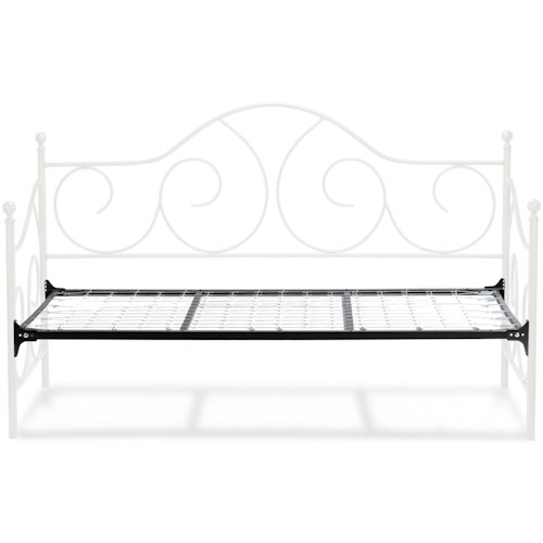 Fashion Bed Group Caroline Twin Caroline Complete Metal Daybed with Sloping Back Panel and Link Spring