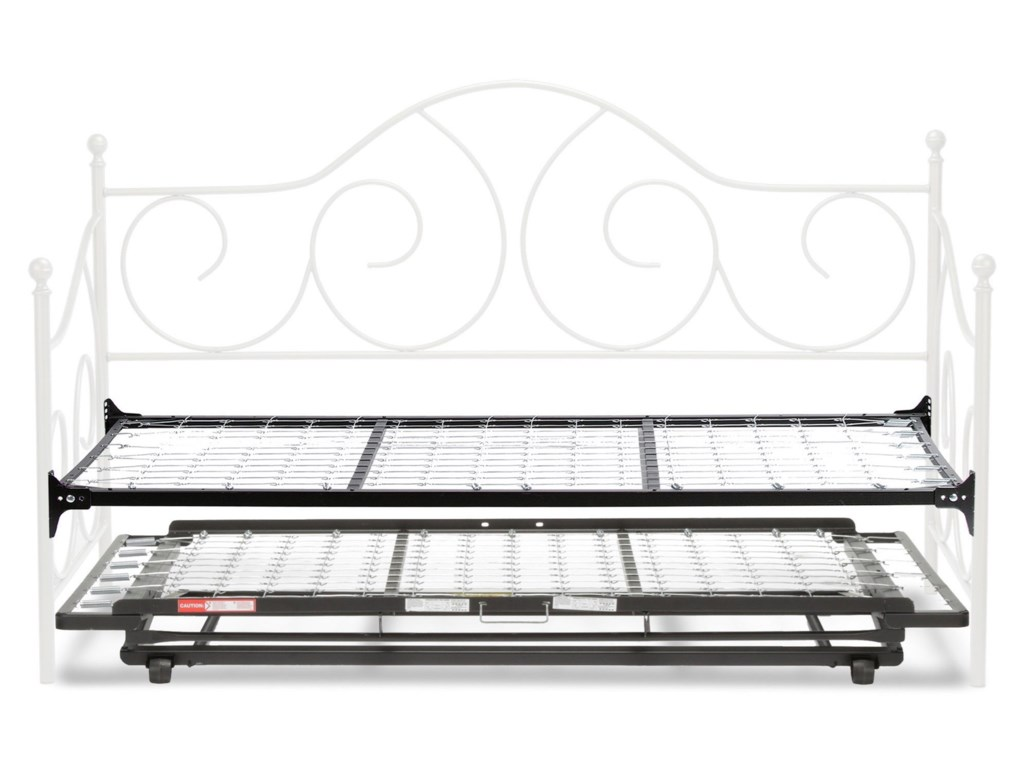 Fashion Bed Group Caroline Twin Caroline Complete Metal Daybed With