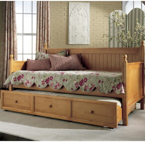 Fashion Bed Group Casey II Daybed with Trundle with Slat Design