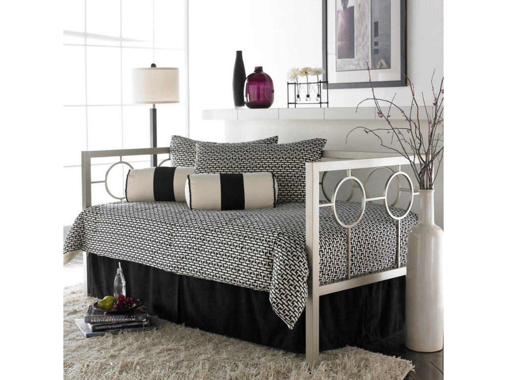 Fashion Bed Group DaybedsTwin Daybed w/ Euro Top Deck & Pop-Up Frame